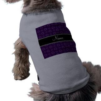 Modelo de reciclaje púrpura conocido personalizado camiseta sin mangas para perro