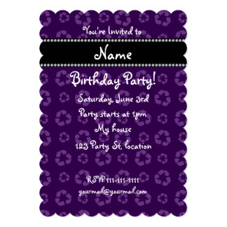 Modelo de reciclaje púrpura conocido personalizado invitación 12,7 x 17,8 cm