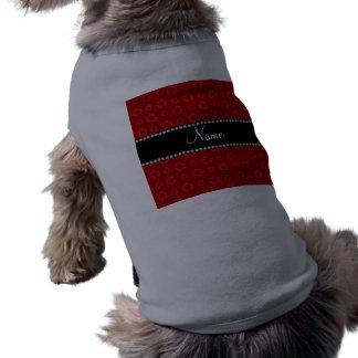 Modelo de reciclaje rojo conocido personalizado camiseta sin mangas para perro