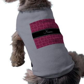 Modelo de reciclaje rosado conocido personalizado camiseta sin mangas para perro