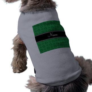 Modelo de reciclaje verde conocido personalizado camiseta sin mangas para perro