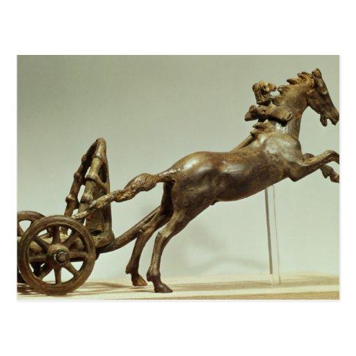 Modelo de un carro de dos caballos postales