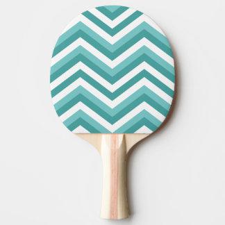 Modelo de zigzag acuático del galón de la turquesa pala de ping pong
