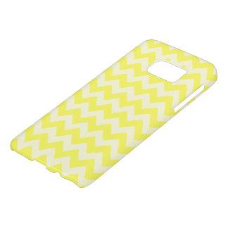 Modelo de zigzag amarillo limón bonito funda samsung galaxy s7