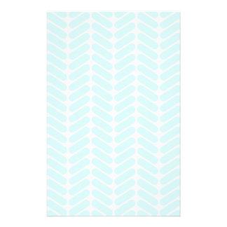 Modelo de zigzag azul en colores pastel inspirado  folleto 14 x 21,6 cm