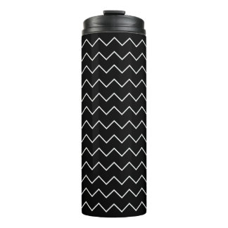Modelo de zigzag blanco y negro de Chevron Termo