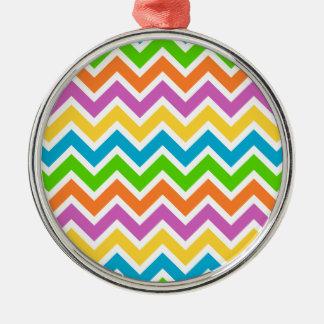 Modelo de zigzag colorido adorno de cerámica