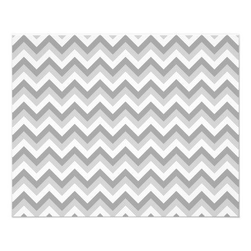 Modelo de zigzag gris y blanco tarjetas informativas