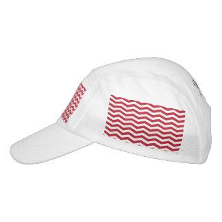 modelo de zigzag rojo del día de fiesta del efecto gorra de alto rendimiento