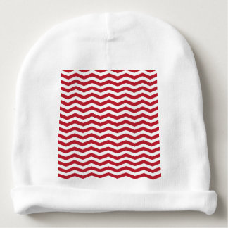 modelo de zigzag rojo del día de fiesta del efecto gorrito para bebe