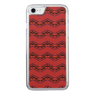 Modelo de zigzag rojo y negro funda para iPhone 7 de carved