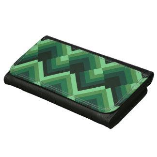 Modelo de zigzag verde