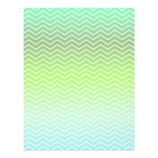 Modelo de zigzag verde folleto 21,6 x 28 cm