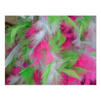 Modelo decorativo colorido de las plumas postales