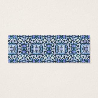 Modelo decorativo complejo azul y blanco del tarjeta de visita pequeña