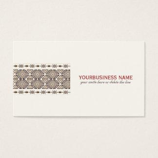 Modelo decorativo étnico tarjeta de negocios
