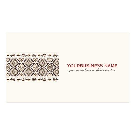 Modelo decorativo étnico tarjetas de visita