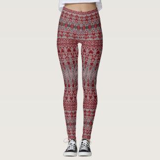 Modelo decorativo rojo leggings