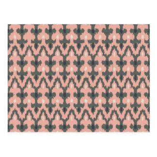 Modelo decorativo tribal geométrico gris rosado de postal