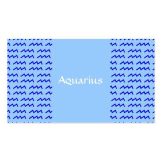 Modelo del acuario tarjetas de visita