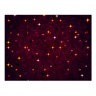 Modelo del adorno de las estrellas postal
