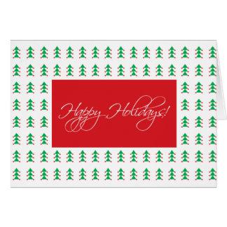 modelo del rbol de navidad tarjeta de felicitacin