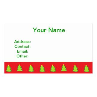 Modelo del árbol de navidad plantillas de tarjetas personales