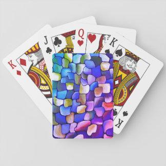 Modelo del art déco - extracto del arco iris baraja de cartas