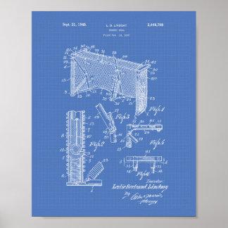 Modelo del arte de la patente de la meta 1948 del