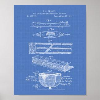 Modelo del arte de la patente del barco 1881 de la