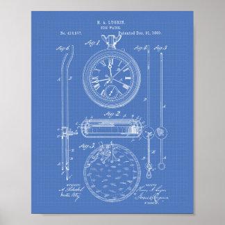 Modelo del arte de la patente del cronómetro 1889