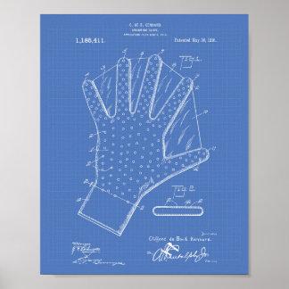 Modelo del arte de la patente del guante 1916 de