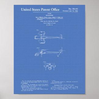 Modelo del arte de la patente del helicóptero 1960