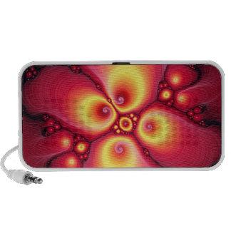 modelo del arte del fractal de la lava notebook altavoz