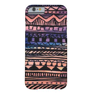 Modelo del Azteca de la puesta del sol Funda De iPhone 6 Barely There