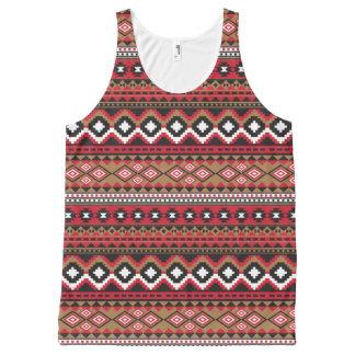 Modelo del Azteca de Navajo del sudoeste Camiseta De Tirantes Con Estampado Integral