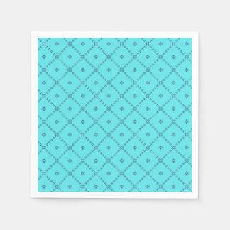 Modelo del azul del diseño gráfico servilleta de papel