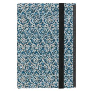 Modelo del azul del trullo del damasco iPad mini carcasa