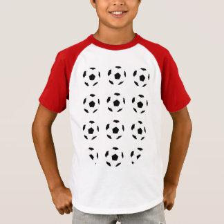Modelo del balón de fútbol camiseta