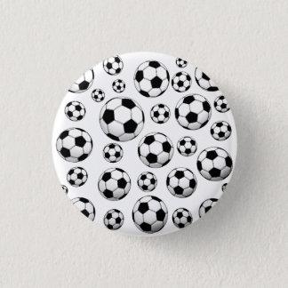 Modelo del balón de fútbol chapa redonda de 2,5 cm