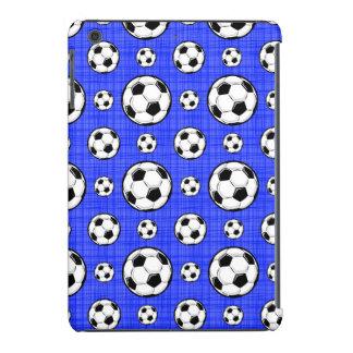 Modelo del balón de fútbol de azul real funda para iPad mini
