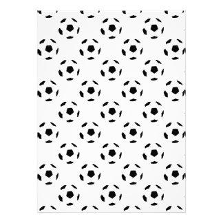Modelo del balón de fútbol comunicados personales