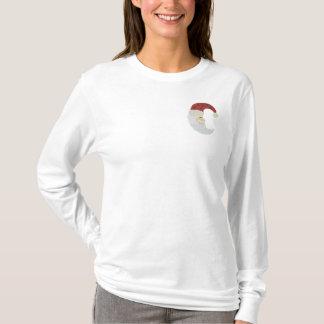 Modelo del bordado de la luna de Papá Noel Camiseta De Mangas Largas Bordada