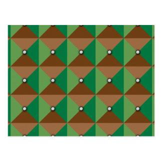 Modelo del botón de la tela escocesa postal