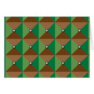 Modelo del botón de la tela escocesa tarjeta de felicitación