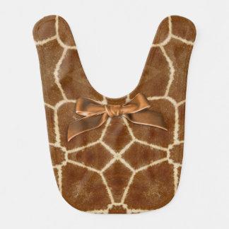 Modelo del caleidoscopio de la piel de la jirafa baberos de bebé