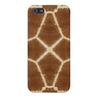 Modelo del caleidoscopio de la piel de la jirafa iPhone 5 protectores