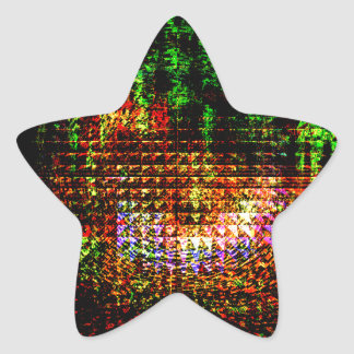 modelo del caleidoscopio del radar pegatina en forma de estrella