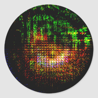 modelo del caleidoscopio del radar pegatina redonda