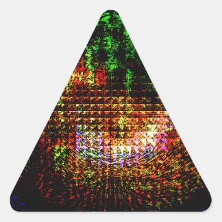 modelo del caleidoscopio del radar pegatina triangular
